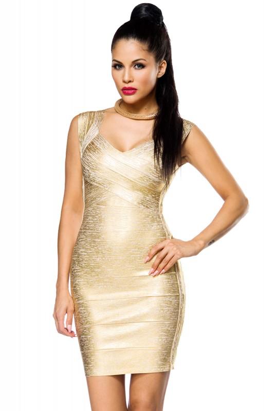 Edle Kleider in Gold - Elegantes Stil und mit Glamour