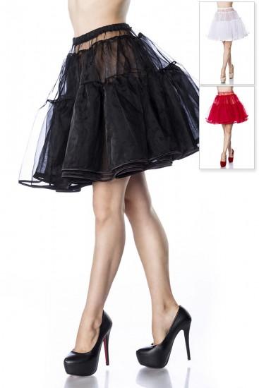 petticoat rock mit stufen in schwarz rot und wei. Black Bedroom Furniture Sets. Home Design Ideas
