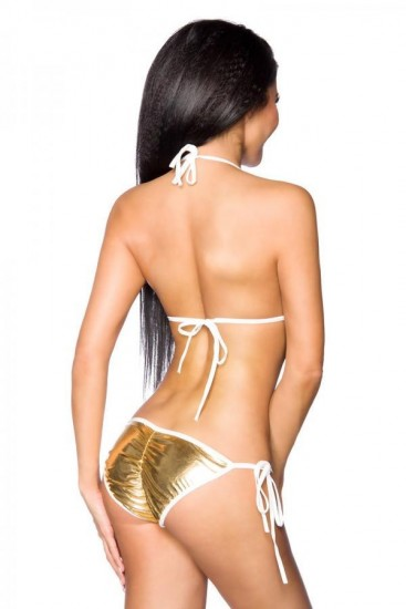 Glanzvoller Metallic-Look Bikini