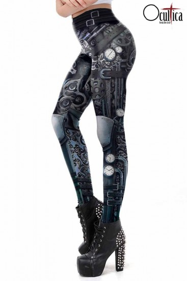 Steampunk Leggings mit Print