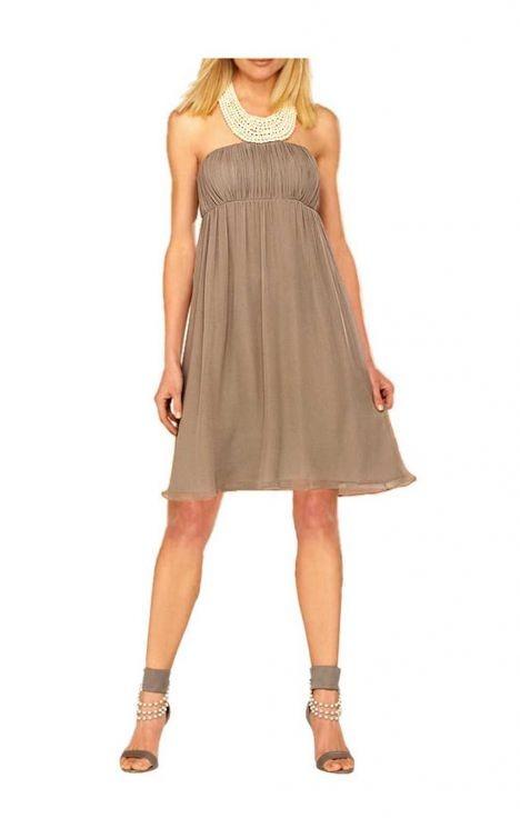 Damen Cocktail-Kleid mit Perlen-2523 - Kleidung Onlineshop