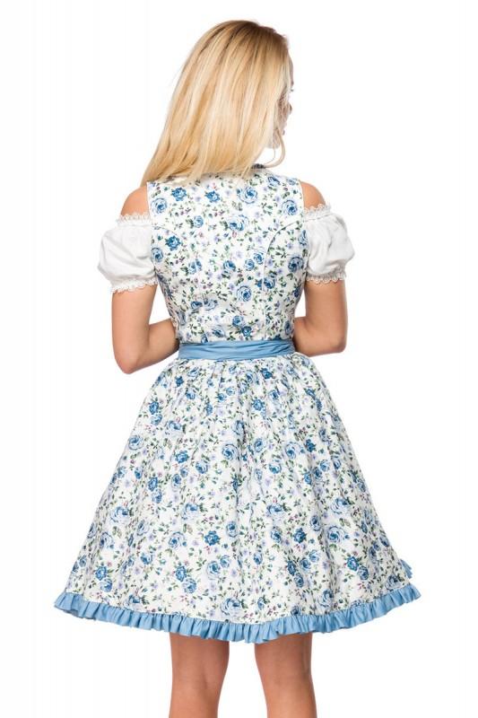 Romantisches Blümchen-Dirndl in Weiß/Blau - Kleidung ...