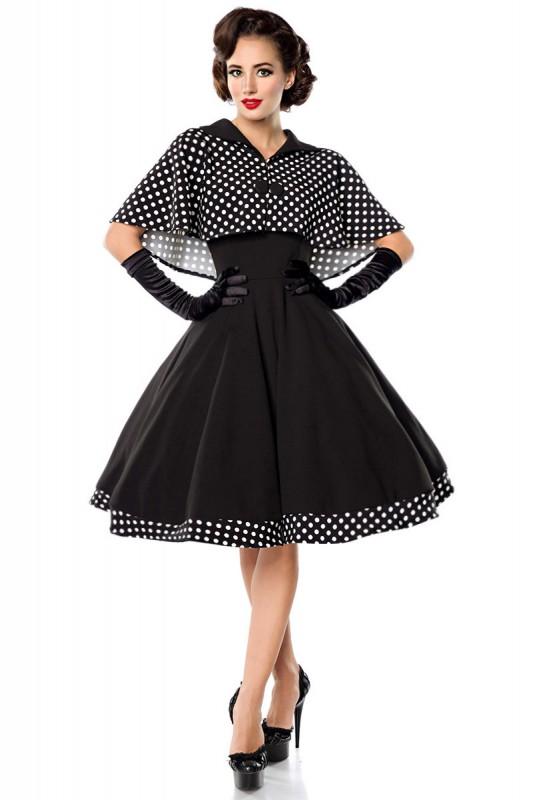 sch ne petticoat retro kleid mit cape kleidung onlineshop. Black Bedroom Furniture Sets. Home Design Ideas