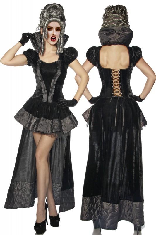 samt vampir kost m gothic stil mit lange schleppe. Black Bedroom Furniture Sets. Home Design Ideas