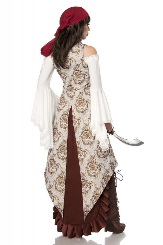 Pirate Bride Jacquard Piratenbraut-Kostüm mit Samtrock