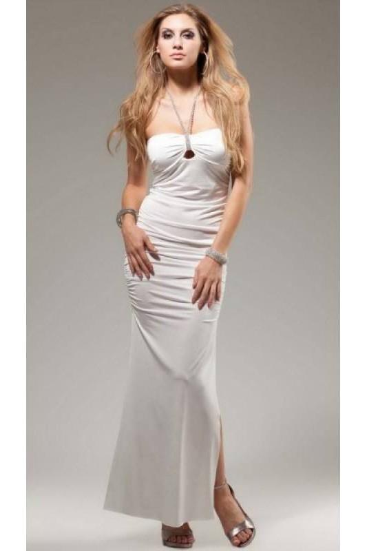 new product d0b5e 2467c Designer Abendkleid weiß mit Strass - Forplay Fashion