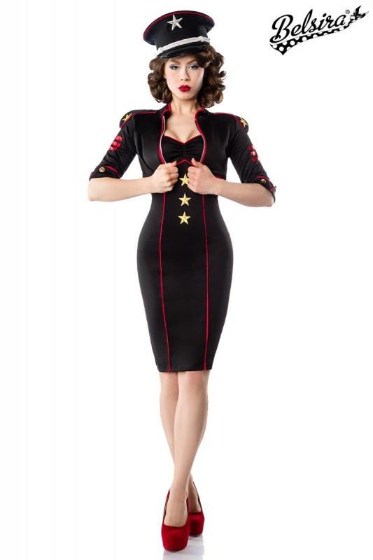 Kleid Military Jackeschöne mit Applikationen Stern rtsxhQdC