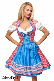 Traditionelles Karo Dirndl in Ro...