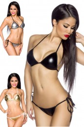 Knapper Metallic-Look Bikini in ...