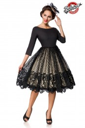 Premium Retro-Swingkleid mit Spi...