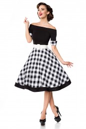 schulterfreies Swing-Kleid in Sc...