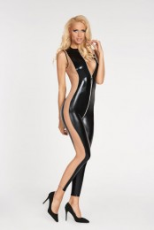 Sexy Clubwear Wetlook Overall vo...